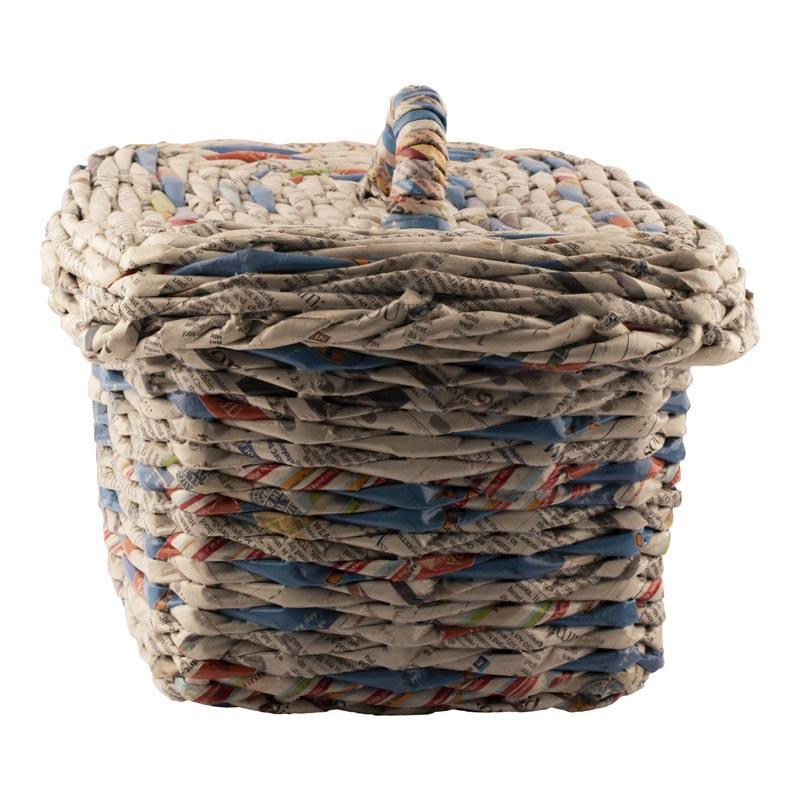Upcycled Newspaper Fruit Basket