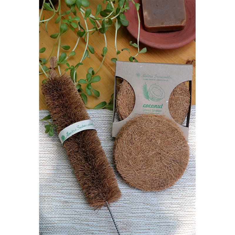 Coconut Fibre Scrubber & Bottle Cleaner