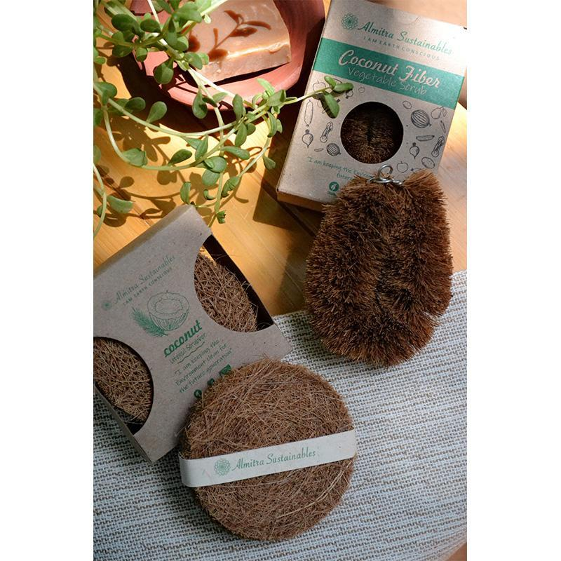 Coconut Fibre Scrubber & Vegetable Cleaner
