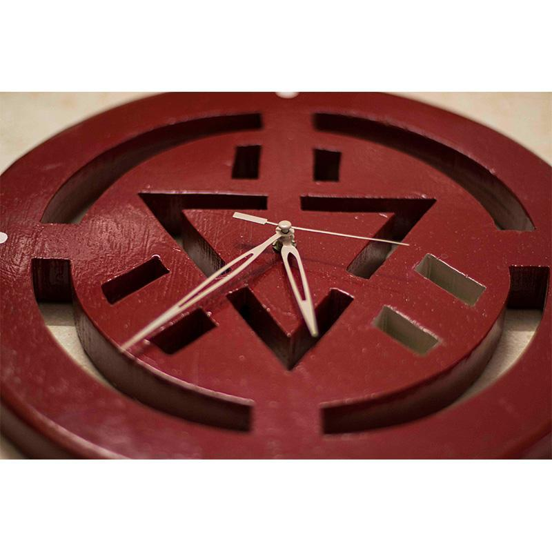Wooden Iron Man Clock