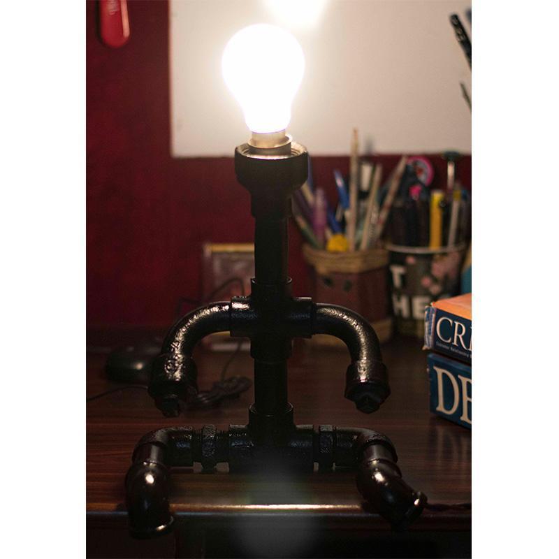 Repurposed Pipe Table Lamp