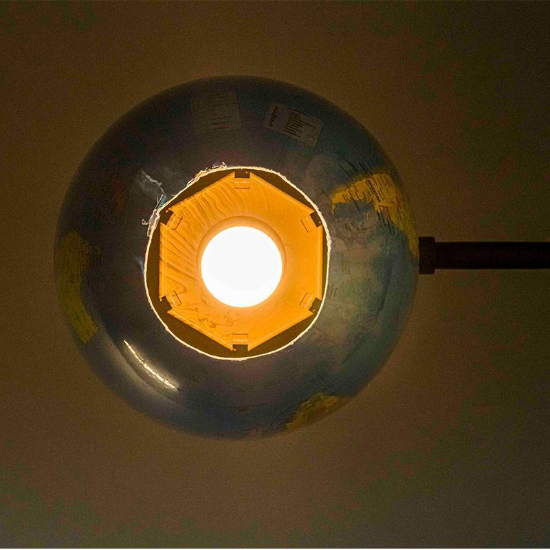 Upcycled Globe Pendant Lamp