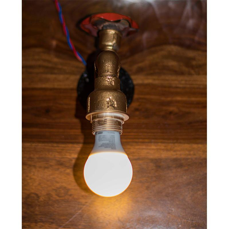 Repurposed Pipe Wall Lamp