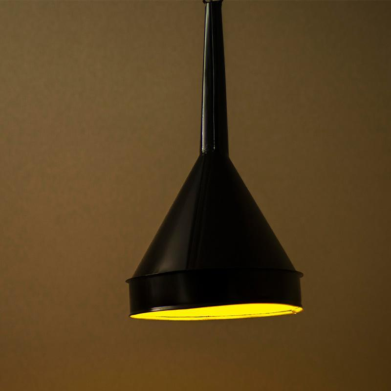 Repurposed Funnel Pendant Lamp