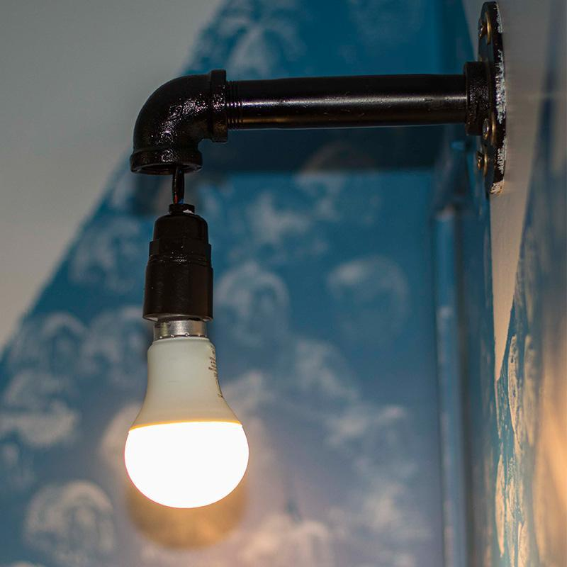 Repurposed Pipe Wall Lamp