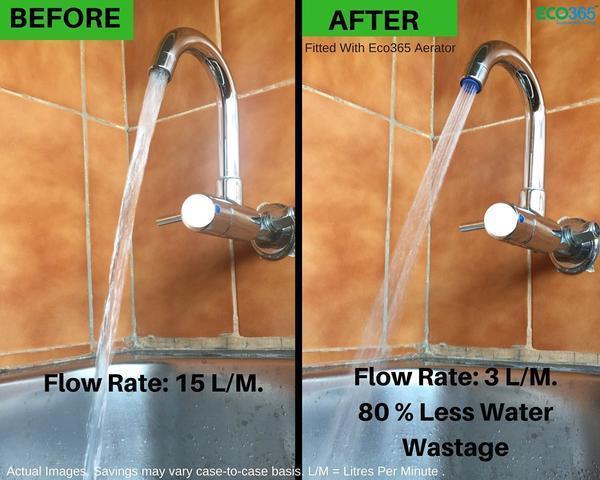 Water Saving Adaptor for Taps