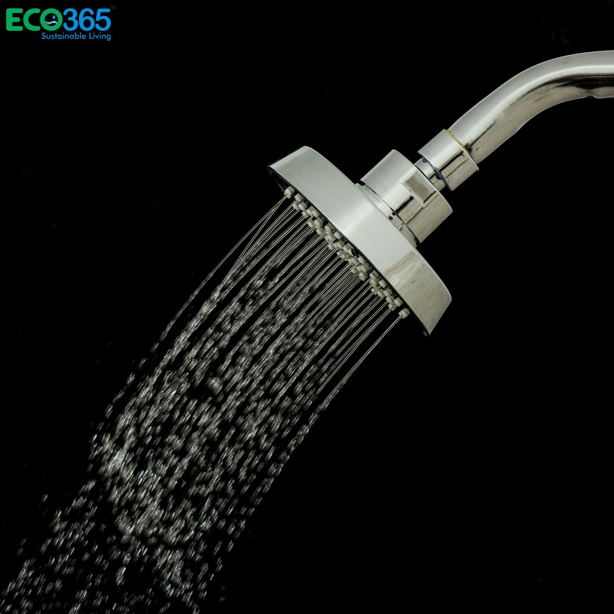 Water-Saving Black Shower Head