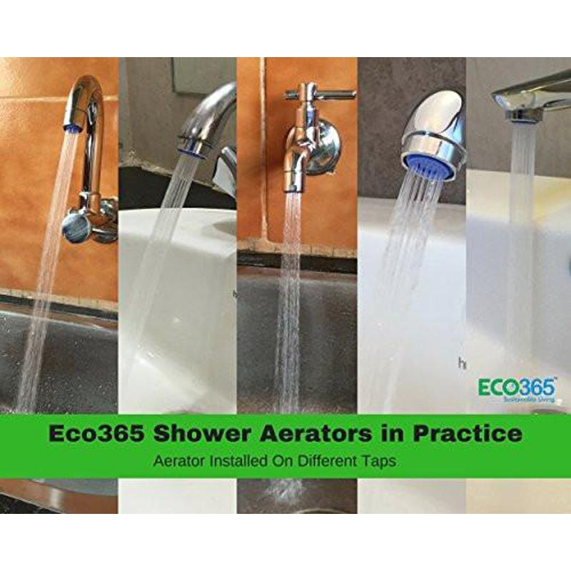 Dual-Threaded Water Saving Shower Flow Aerator For Taps