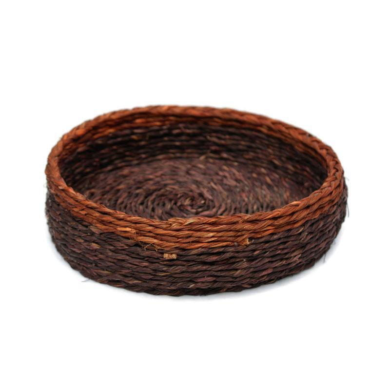 Natural Fibre Brown Roti Box with Lid