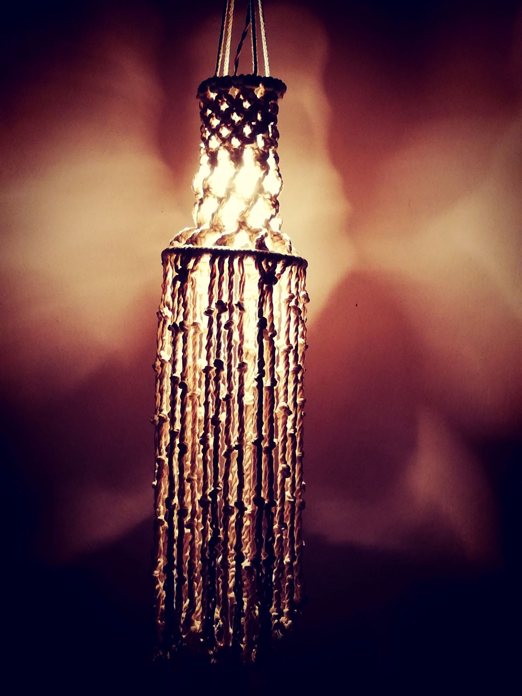 Vibbhin Handmade Macrame Lantern & Wall Hanging
