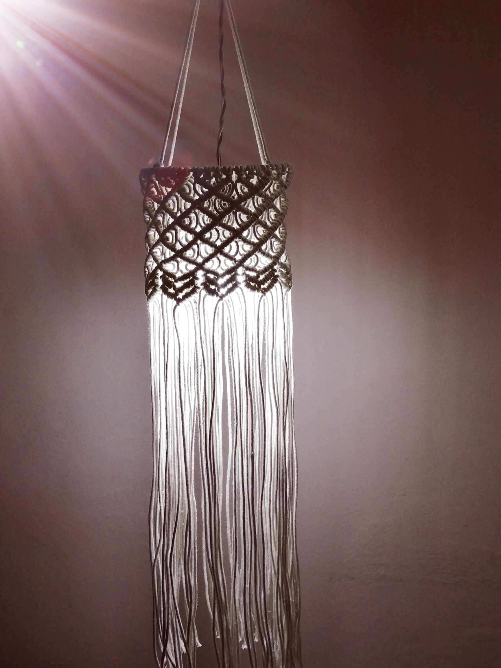 Shadow Handmade Macrame Lantern & Wall Hanging