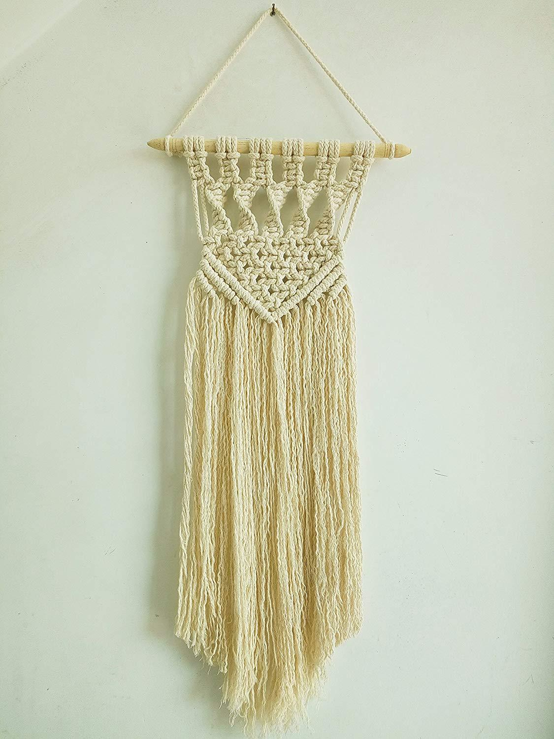 Macrame Fringed Wall Hanging