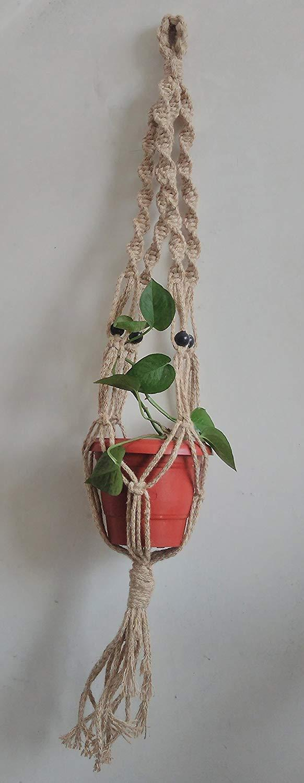 Spiral Jute Macrame Plant Holder