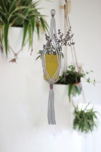 Coloured String Macrame Indoor Plant Holder