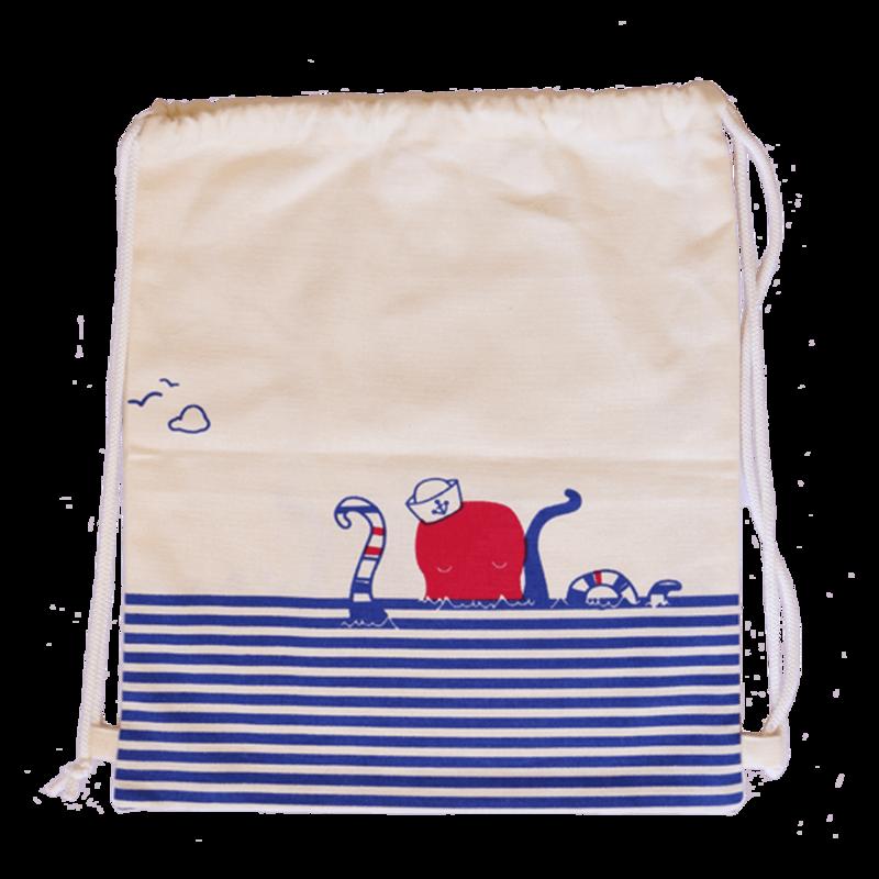 Canvas Drawstring Octopus Toy Bag