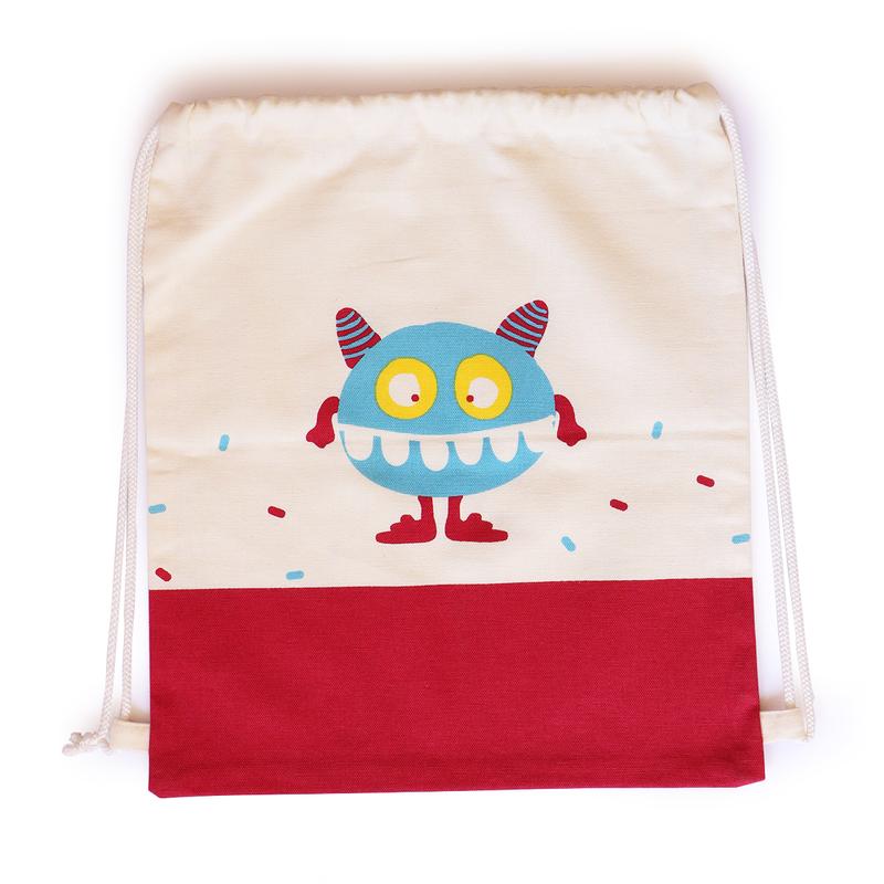 Canvas Drawstring Squasher Toy Bag