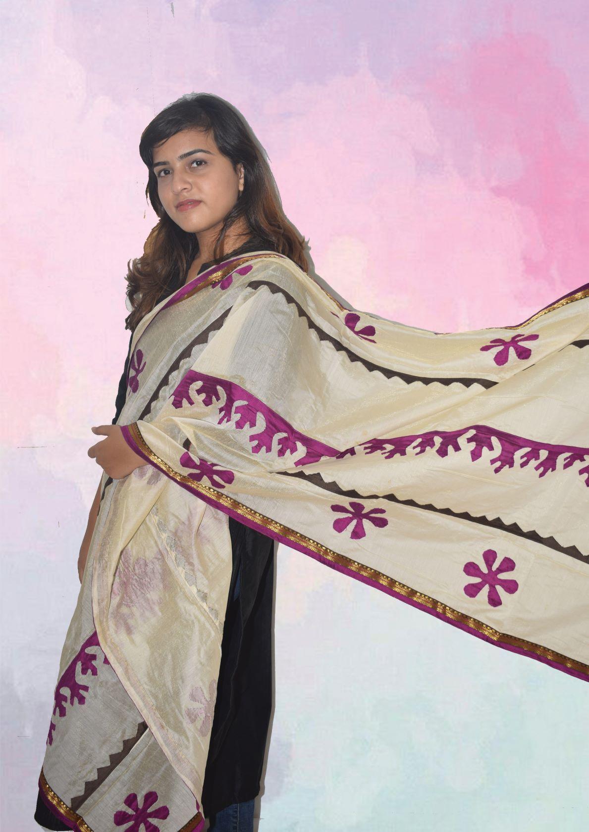 Designer Chanderi Dupatta