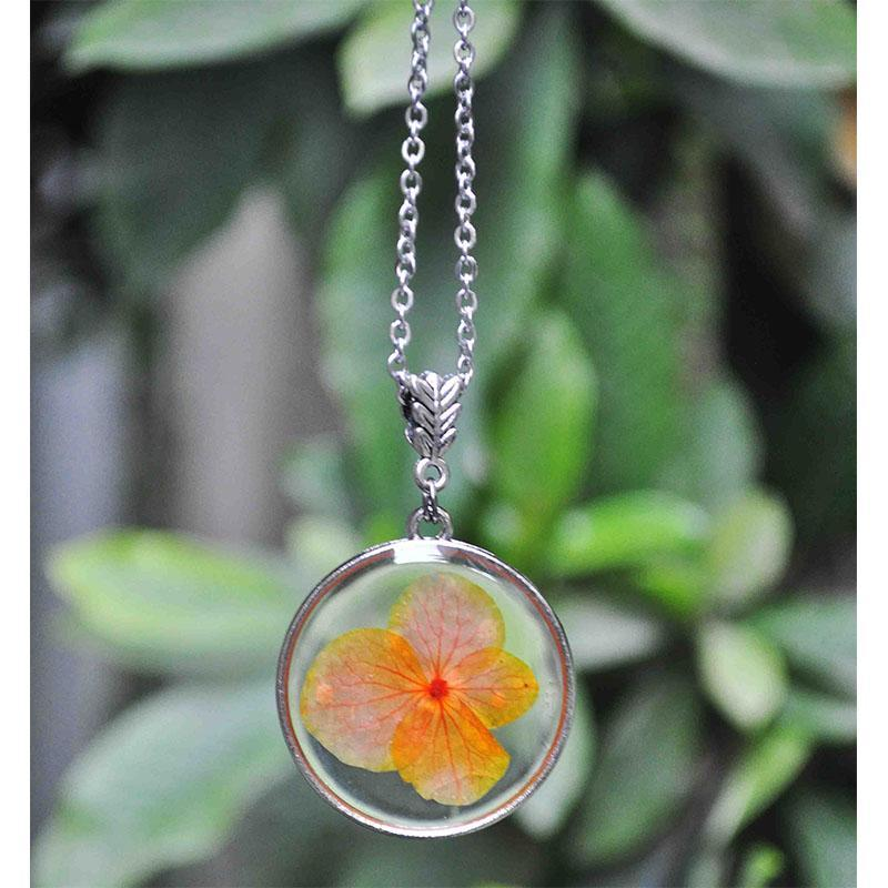 Hand Pressed Round Pendant Necklace