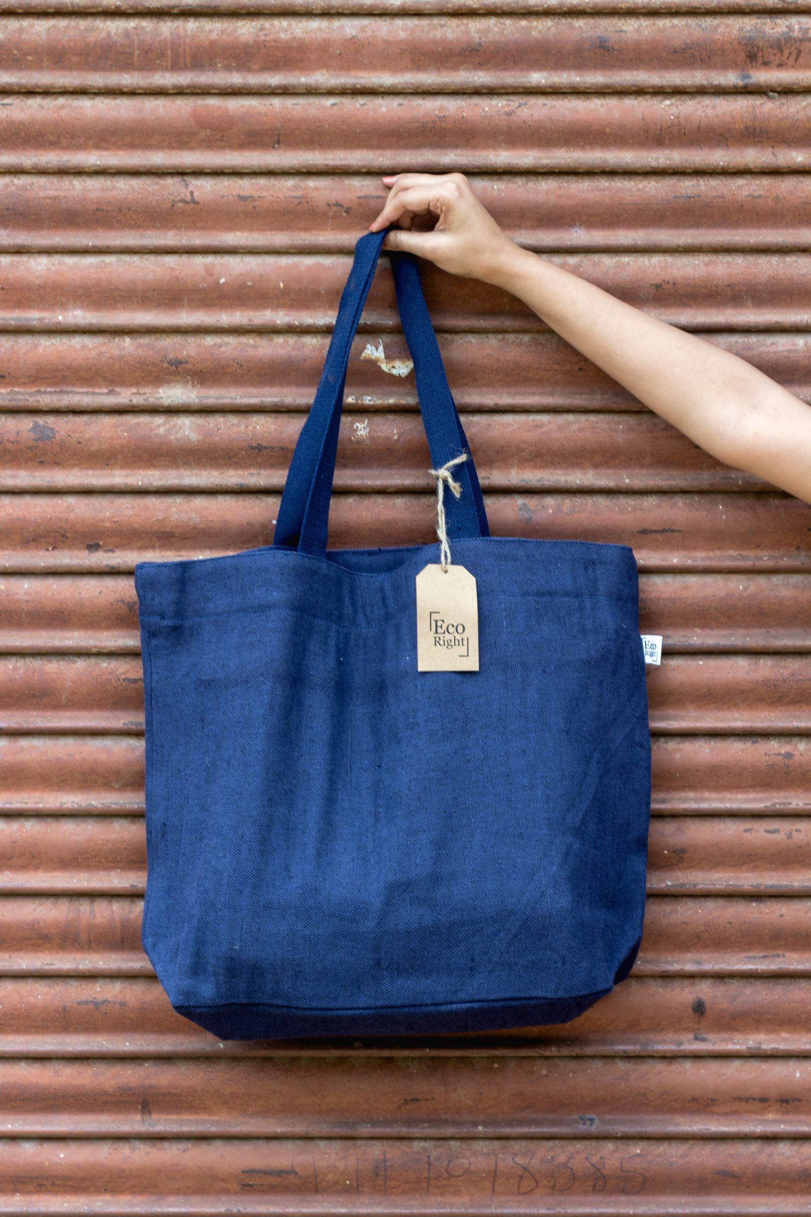 Reusable Juton Large Zipper Tote Bag