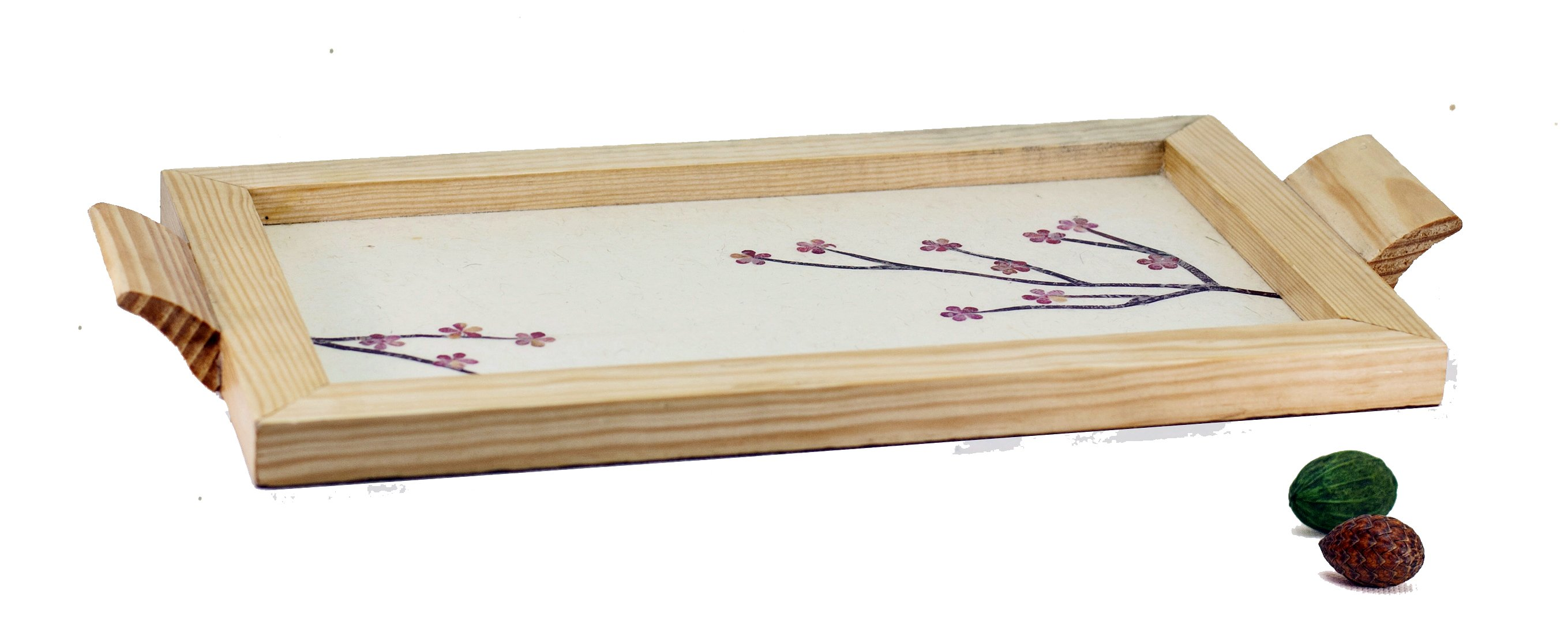 Handmade Upcycled Floral Wooden Tray