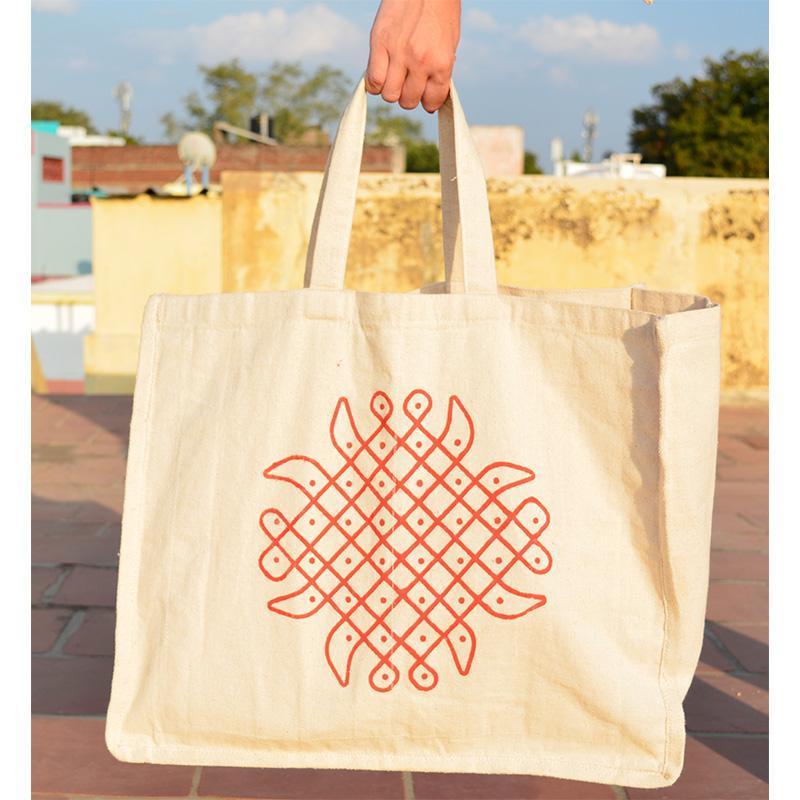 Cotton 6 pockets Vegetable Bag