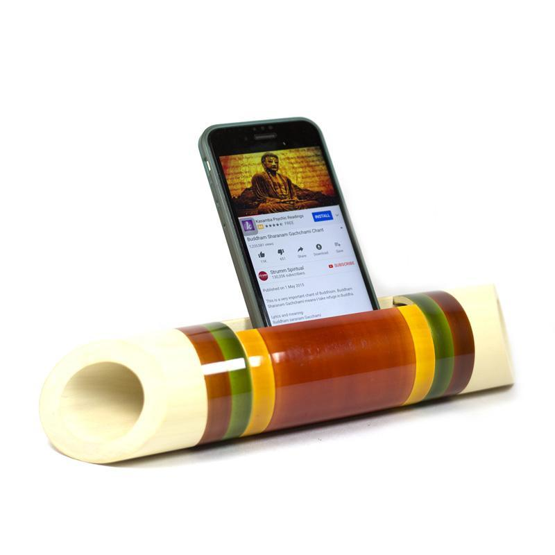 Electricity-Free Ivory Wood Speaker