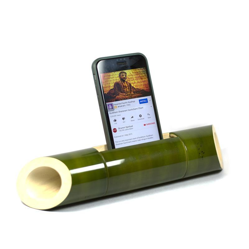 Electricity-Free Green Ivory Wood Speaker