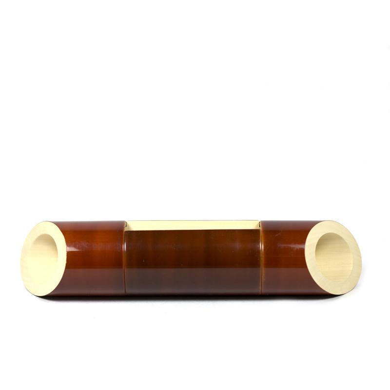 Electricity-Free Brown Ivory Wood Speaker