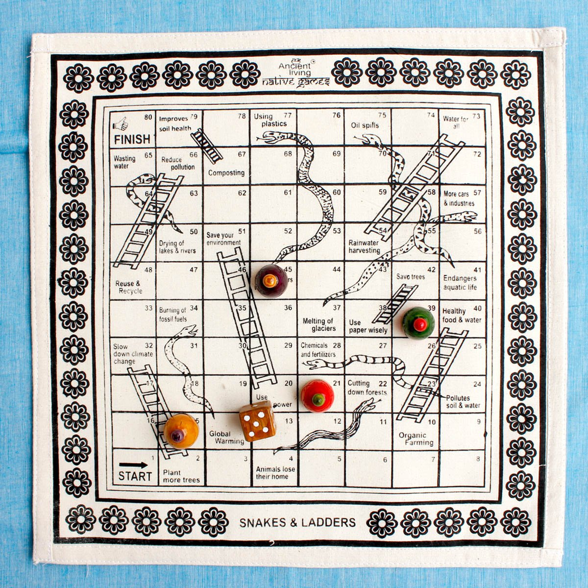 Snakes & Ladders Native Game