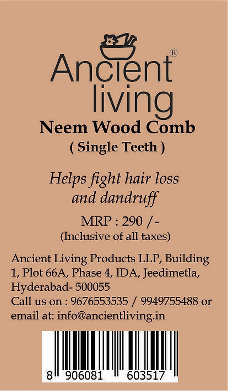 Handcrafted Neem Wood Comb