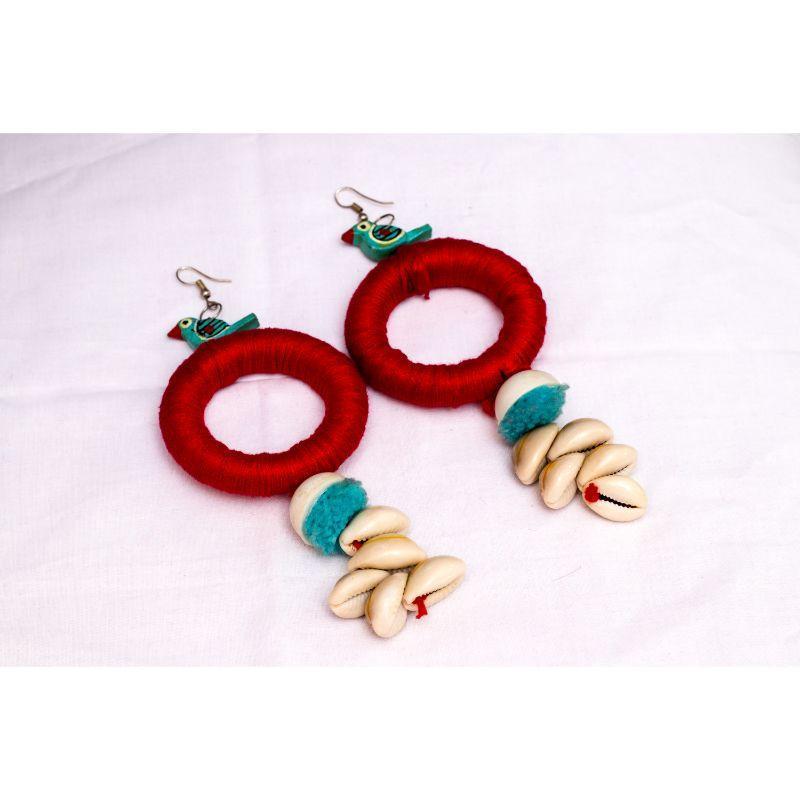 Handmade Wooden Round Earrings