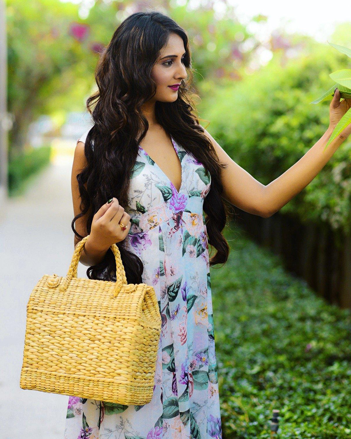 Kauna Reed Basket Bag