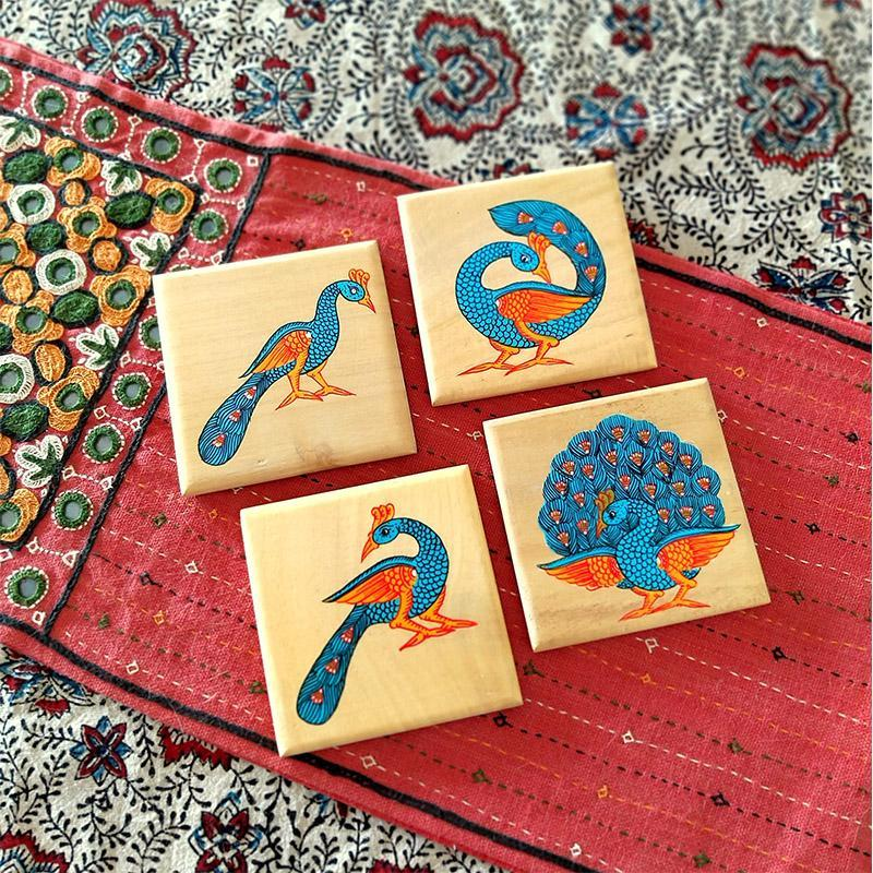 Handpainted Wooden Pattachitra Coasters