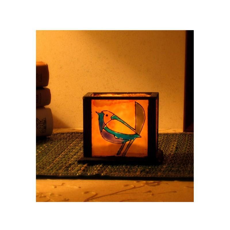 Hand Painted Glass Tealight Holder