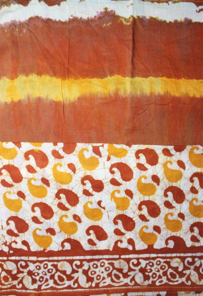 Cotton Mul Handblock Print Batik Stole