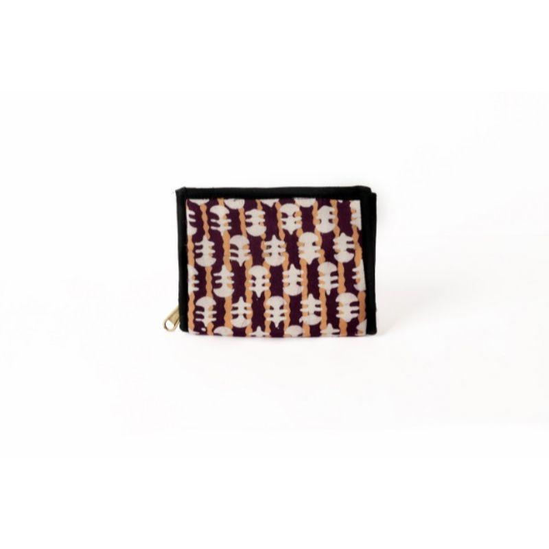 Block Print Zip Wallet