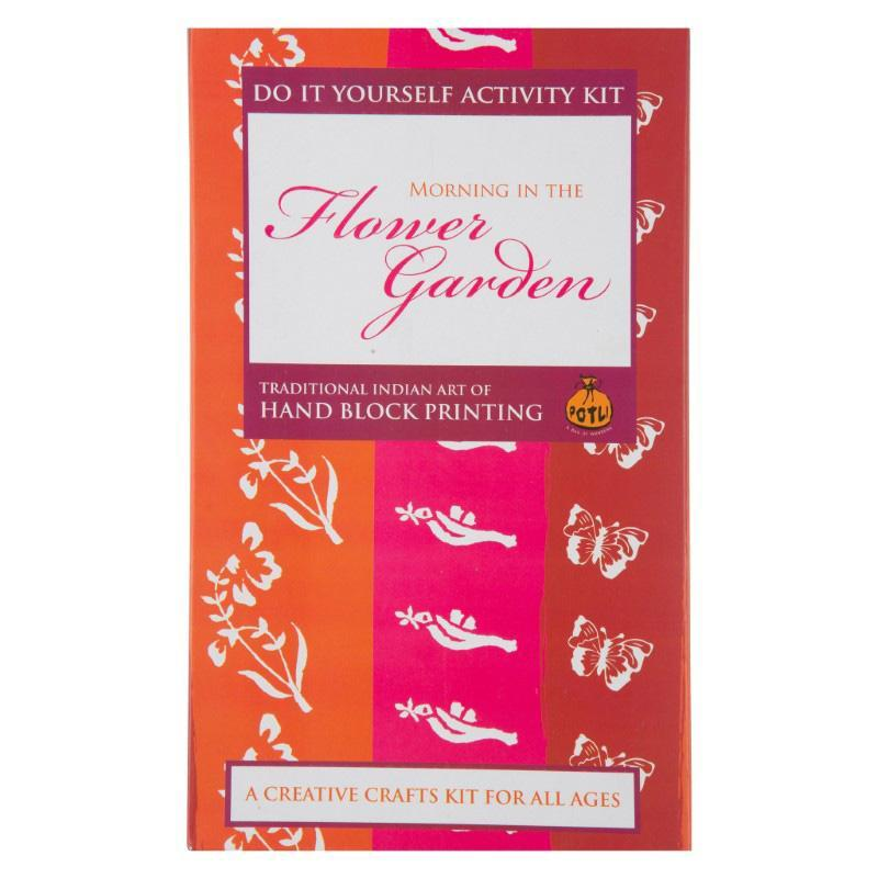 Flower Garden Hand Block Printing Kit