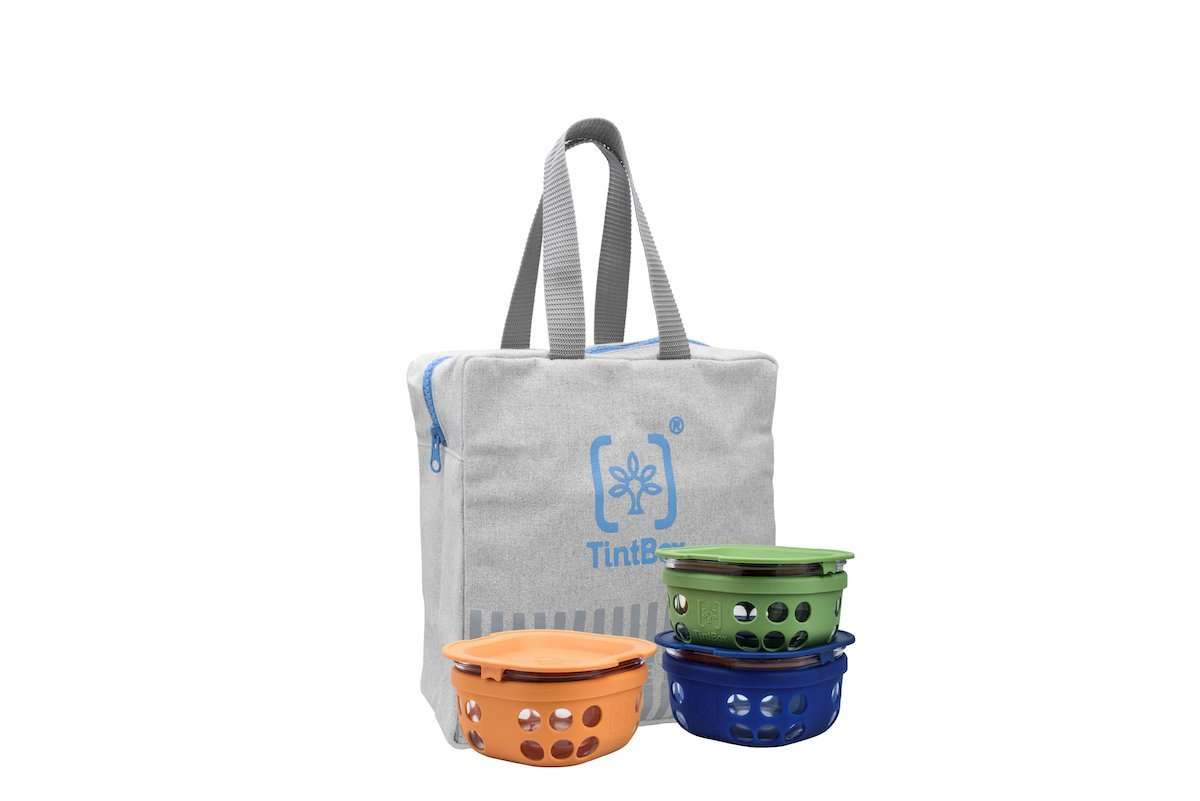 Borosilicate Glass Lunch Boxes with Canvas Bag