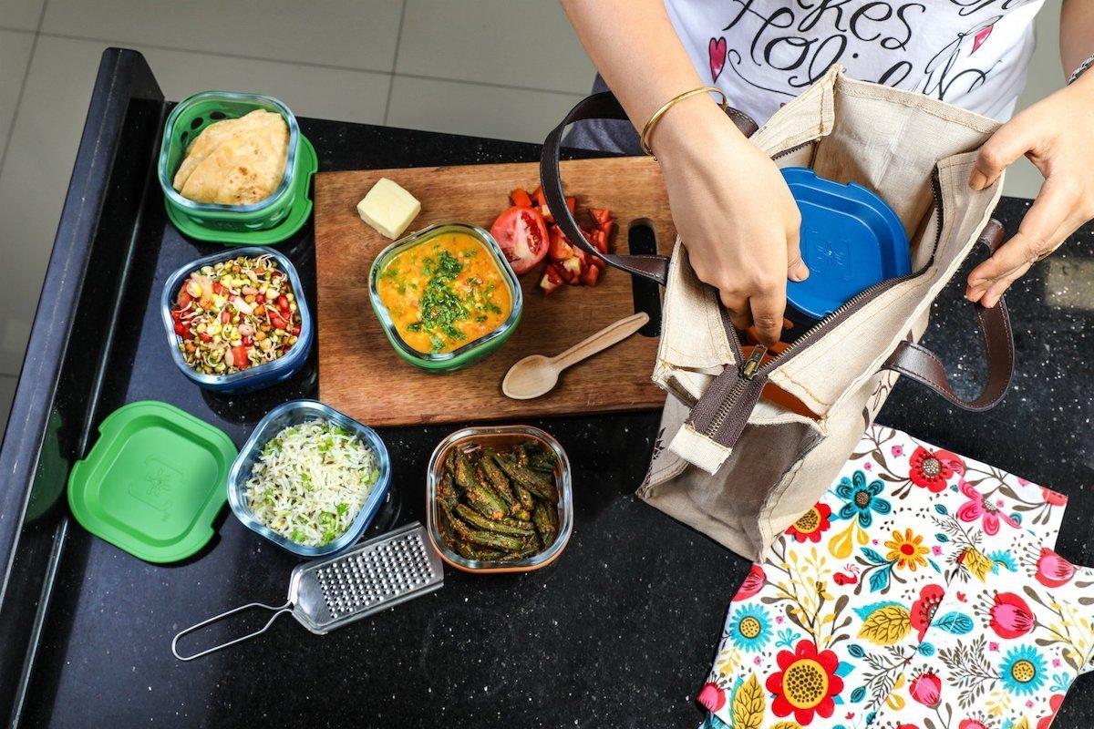 Borosilicate Lunchbox, Bottle & Bag Combo