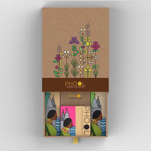 Made from discarded flowers collected from places of worship, these incense sticks are free from chemicals and charcoal.