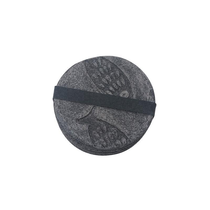 Recycled Paper Dark Grey Fish Motif Coasters