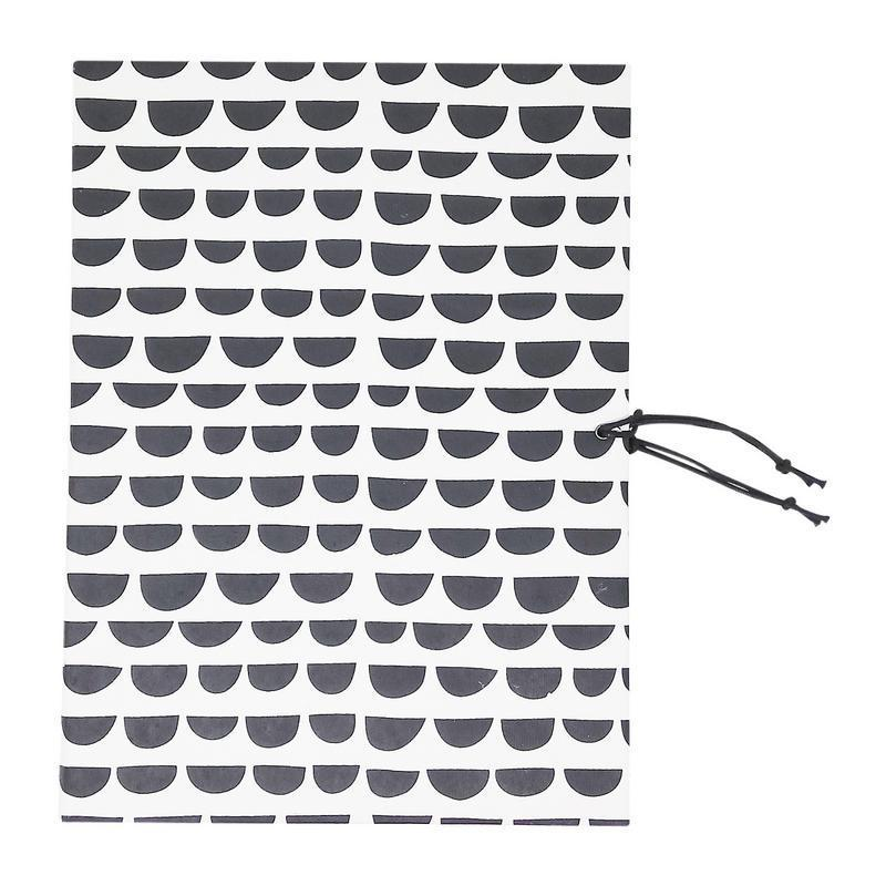 Handmade Recycled Paper File Folder - White with Grey Cloud Print