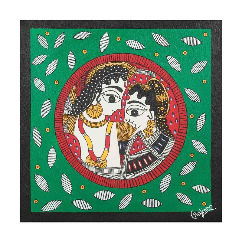 Handmade  Madhubani Camaraderie Painting