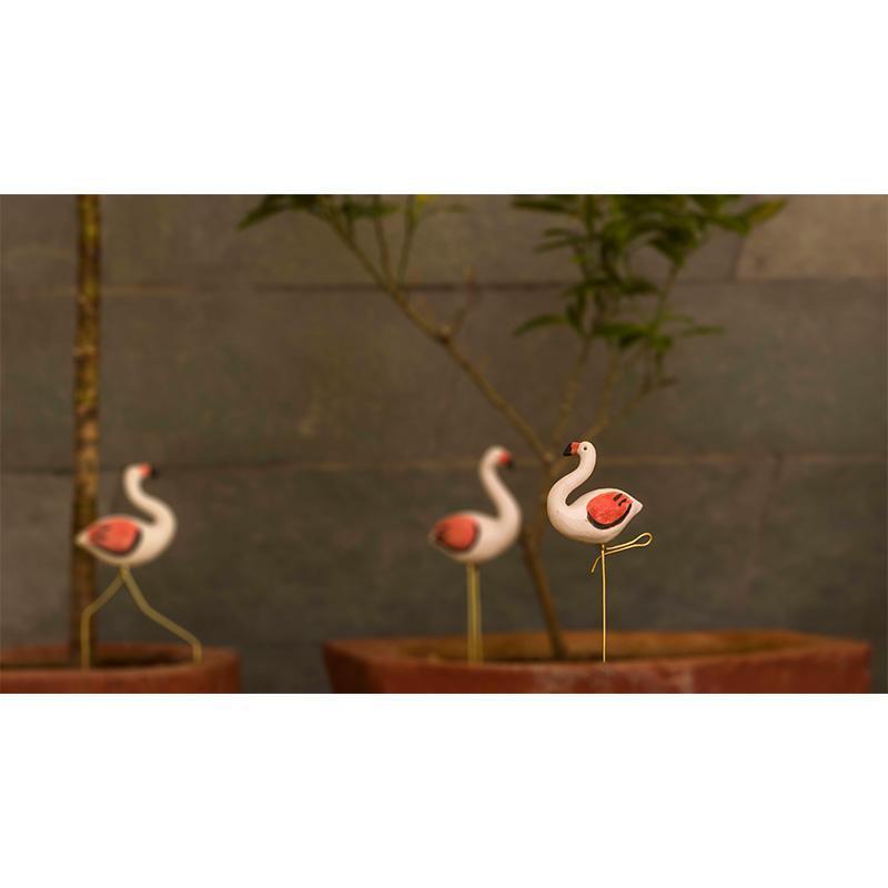 Resting Flamingo Planter Accent