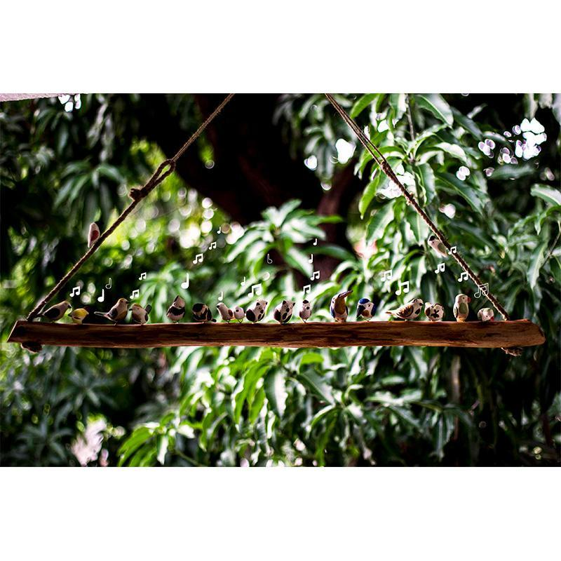 Wooden Bird Hanging by Local Artisans - Big