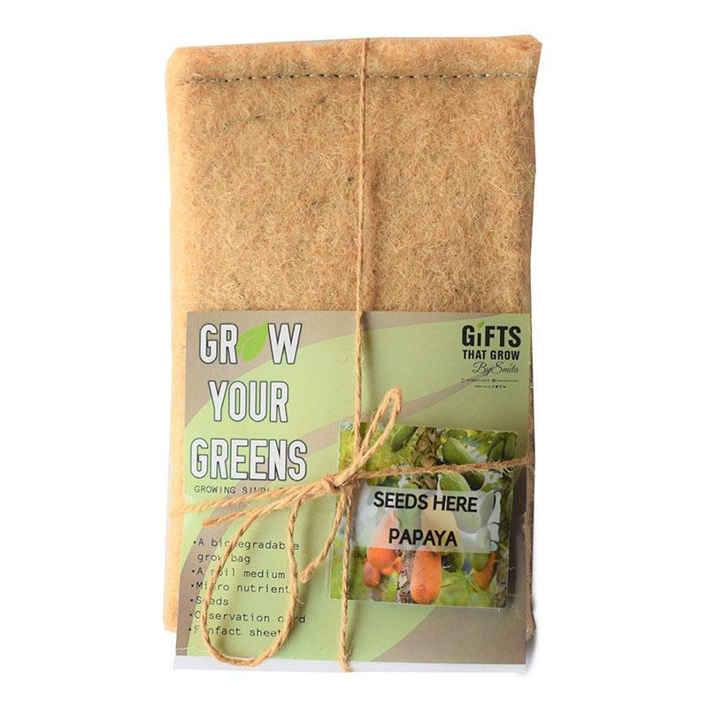 Grow Your Greens Papaya Kit