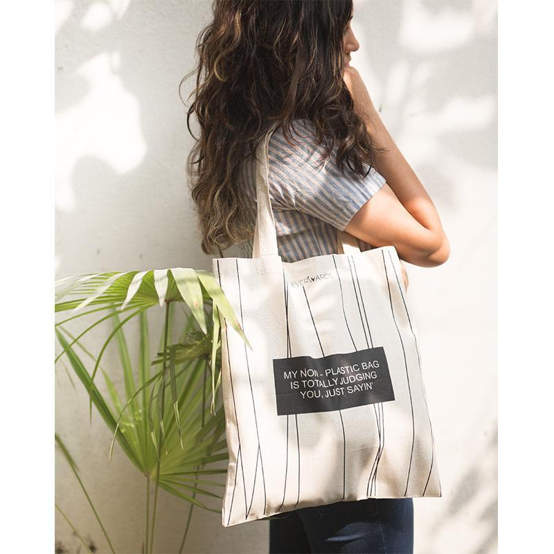 Handcrafted Cotton Foldable Tote Bag