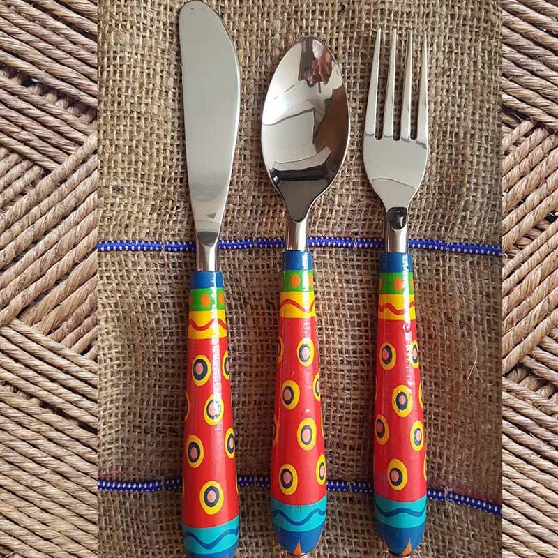 Cutlery in Banarasi Woodwork