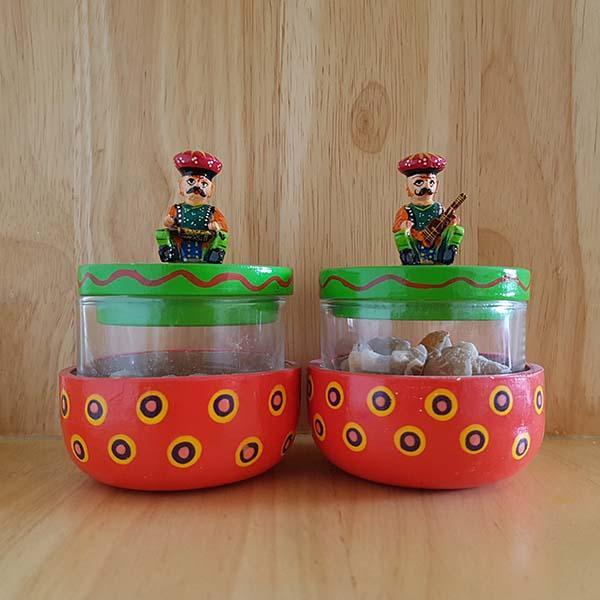 Handcarved Chutney Jars
