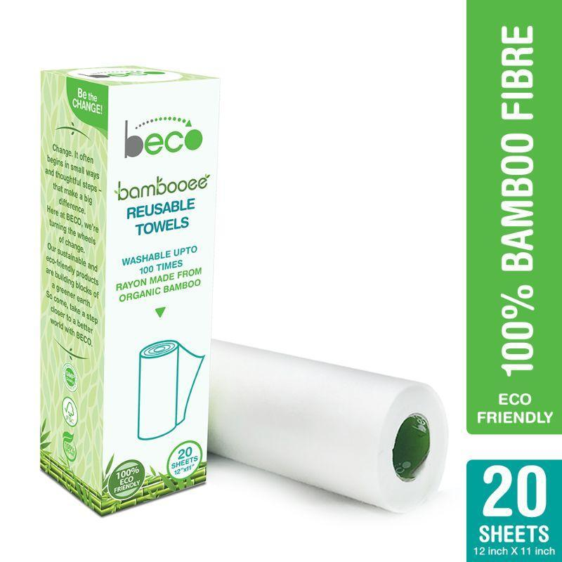Reusable Bamboo Kitchen Towel Roll
